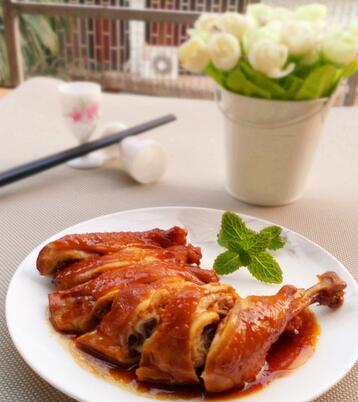 懒人电饭煲做饭:陈皮豉油鸡腿